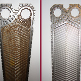 Reinigung von Plattenwärmetauscher aus der Kunststoffverarbeitenden Industrie