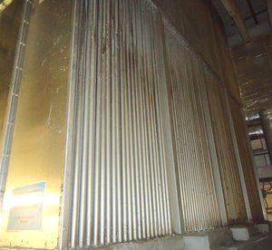 Reinigung von Rohrbündelwärmetauscher bei der Papier verarbeitenden Industrie.